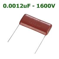 0.0012uF - 1600V | HIGH VOLTAGE METALLIZED FILM CAPACITOR 0.0012UF 1600V +/-10% P:15MM  BULK ROHS