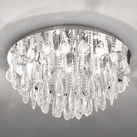 EGLO Calonda Chrome and Crystal 7x33w LED Ceiling Light | LV1902.0097