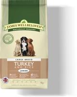 James Wellbeloved Junior Large Breed - Turkey & Rice 15kg