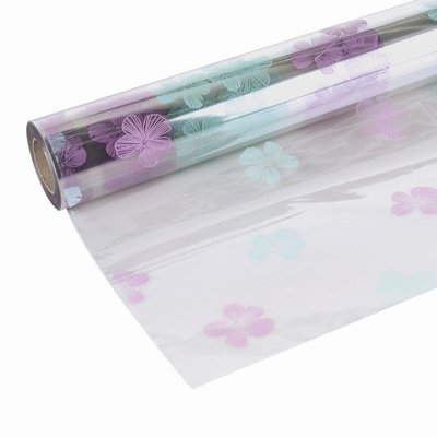 CELLOPHANE TISSUE FLOWERS LILAC 80CMX 100MTR