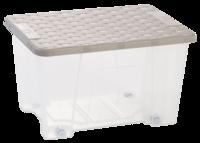 Rattan Lid Storage Box 15L With Wheels