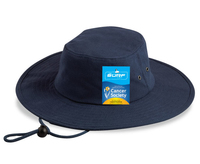 Brushed Heavy Cotton (Surf) Brim Hat With Chin Strap