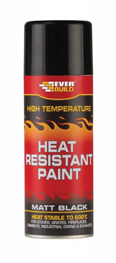 Everbuild Heat Resistant Paint Aerosol 400ml