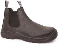 Bison Trade Steel Toe Slip On Safety Boot Black