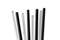 "Jumbo 8"" Black Straws. Pack of 500"
