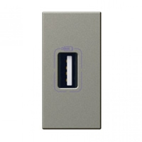 Arteor USB Charger Single - Magnesium    LV0501.0822