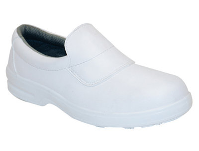 REDBACK Kleen Microfibre Slip-on Shoe White S2 SRA
