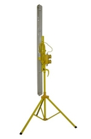 PL158 PLASTERERS SITE LIGHT  ON RETRACTABLE STAND W/ 5MTR CABLE & 2X 110V 16A SOCKET