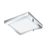 EGLO Fueva 1 LED Polished Chrome Square Ceiling Light LED 22w 3000k | LV1902.0067