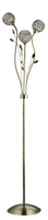 Bellis Ii Antique Brass 3 Light Floor Lamp With Clear Glass Shades