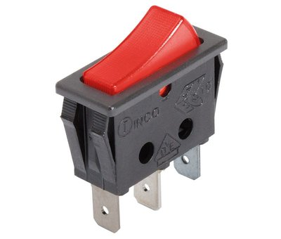 Single Pole Rocker Switch With Red Neon