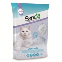 Sanicat Diamonds Silica Gel Cat Litter 3.8 Lit x 4