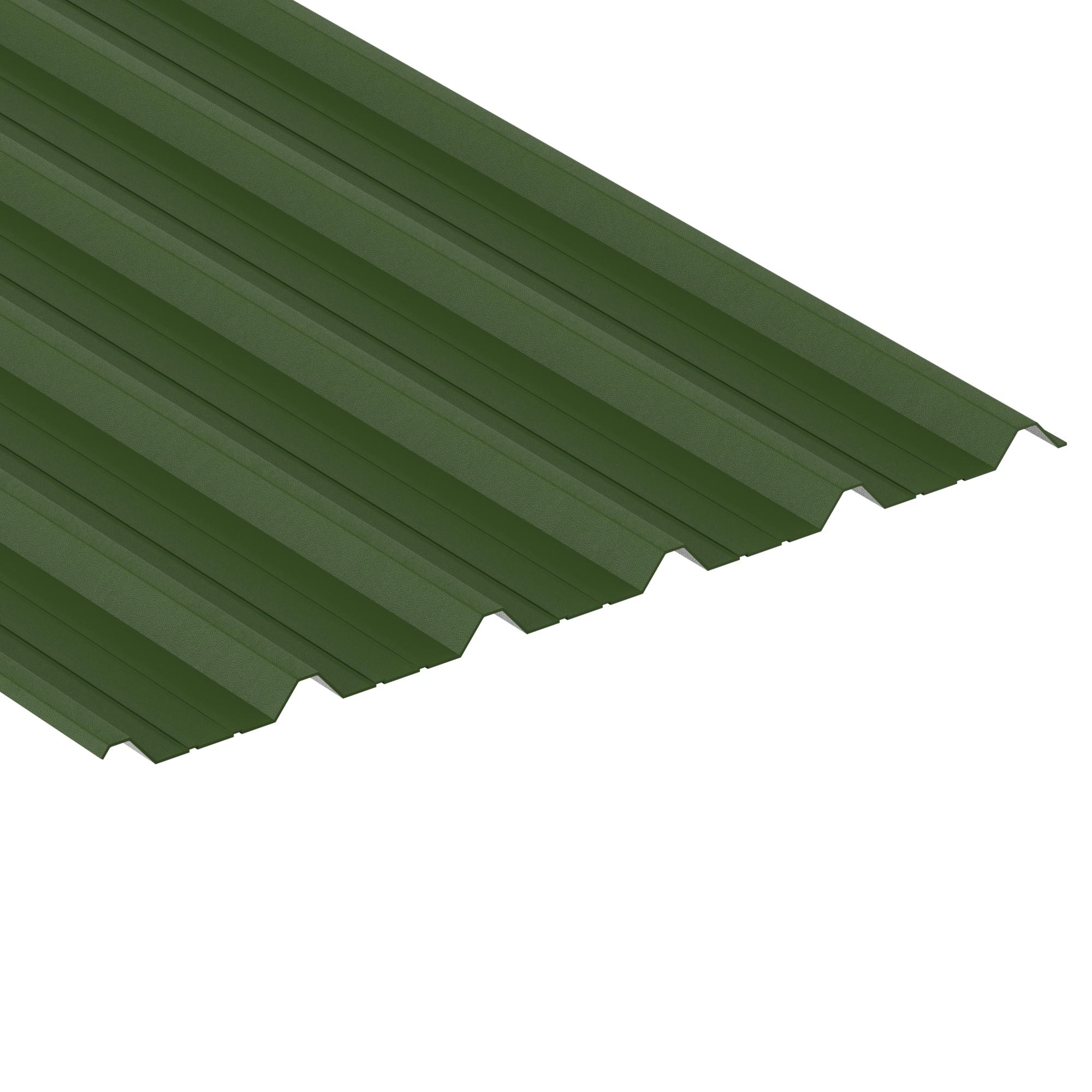 Box Profile, Juniper Green, Plastic Coated Leathergrain, 0.7mm Thickness, Profile -1000/32B