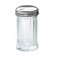 Sugar Pourer Glass S/S Flip Lid 12oz