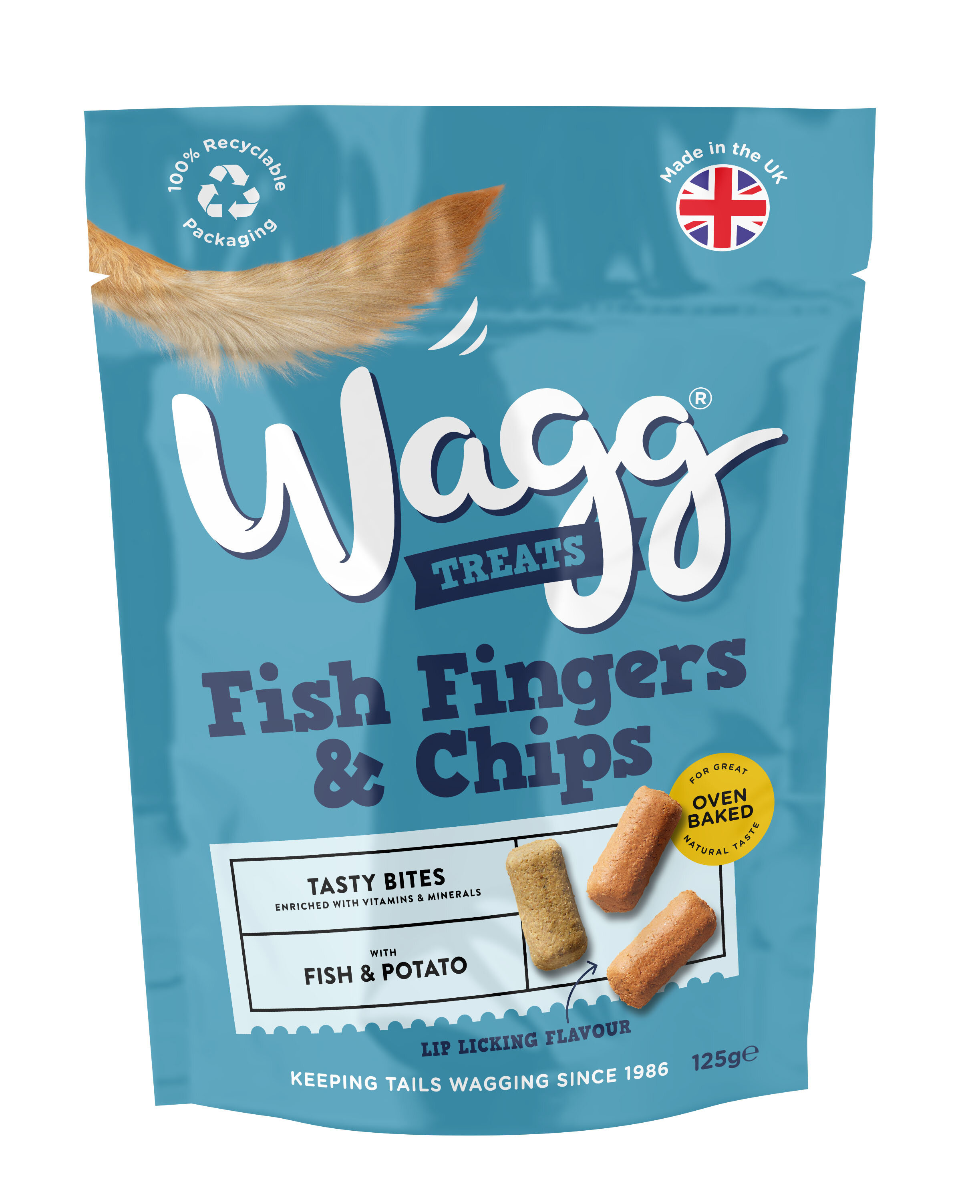 Wagg Dog Treats Fish Fingers & Chips 125g x 7
