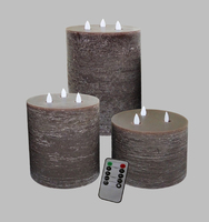Flameless Flickering Candle Coffee Coloured