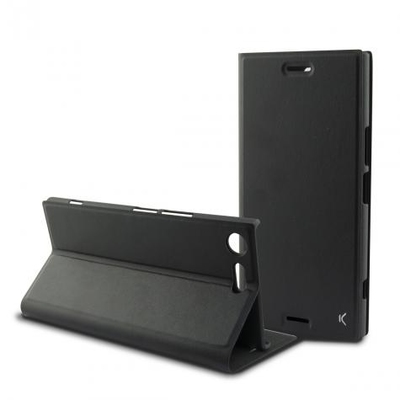 Ksix Black Folio Case for Xperia XZ Premium