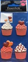 Valentine Cupcakes Essential Craft Sticker.