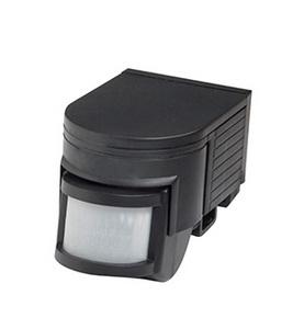 LED Robus MOTION DETECTOR 180°, 10 seconds 10  minutes, IP44, Black