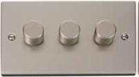 Click Litehouse DECO 3G 2Way 400W Dimmer Switch Satin Chrome