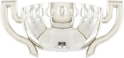 Silver Plastic Half Bowl