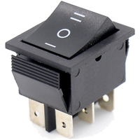 Switch | Rocker Switch 6 Pins DPDT ON- OFF-ON 20A 125V
