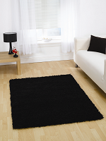 Shaggy Rug Black Large 160X230