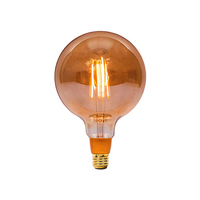Bell 4W LED ES Vintage Globe Amber Dimmable