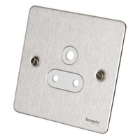 Flat Plate Stainless Steel  5Amp UNSW SKT WHITE | LV0701.0085
