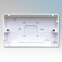 MK K2142WHI Logic Plus Box 2G Surface Moulded 30mm WHI