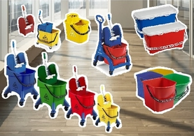 Industrial Mop Buckets and Wringers