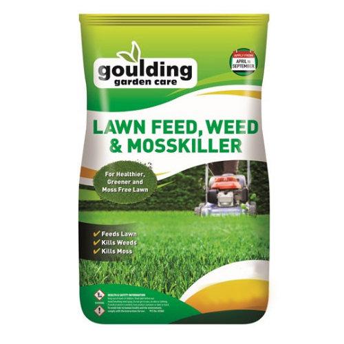 Goulding Lawn Fertiliser, Weed & Moss Killer - 20KG