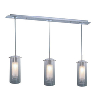 Muzzaone 3 Light Glass Pendant Clear & Frosted