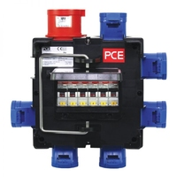 PCE IMST Distribution Box 32A 415V In, 6 x 16A Out (9030184K)