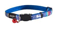 Rogz Neocat Cat Collar - Blue Candystripes x 1
