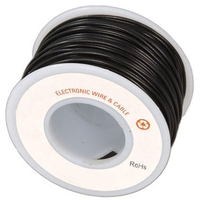 Electronic Wire Tinned Copper 300Meters Spool Black