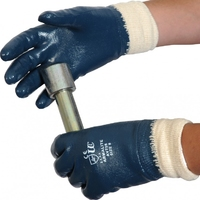 Fully Coated Nitrile Dipped Glove Knitwrist