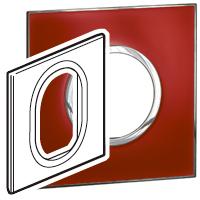Arteor (British Standard) Plate 3 Module 1 Gang Round Mirror Red | LV0501.2743