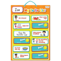 My magnetic to-do list for kids