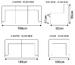 Serena Leather Sofa Dimensions