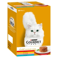 Gourmet Gold Cat Can Savoury Cake Chicken Multipack 85g 12-Pack x 4