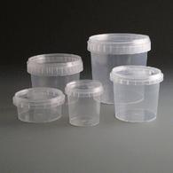 Plastic tub/pots tamper evident