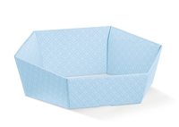 BOX TRAY HEX LIGHT BLUE 290X230X85MM