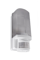 WHITESTAR 60W bulkhead with PIR, IP 44, White
