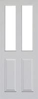Indoors Claremont Primed Door Bevellled Glazed 78X30