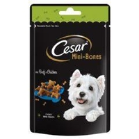 Cesar Mini-Bones Dog Treats - Beef & Chicken 75g x 6