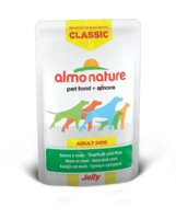 Almo Nature Classic Dog Pouch Jelly Tuna & Sweetcorn 70g x 24