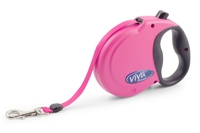 Ancol Viva Extending Lead - Medium Raspberry Pink x 1