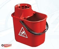 MASTERLUX BUCKET WITH SIEVE RED 16ltr