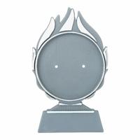15cm Plastic Blaze Disc Holder (Silver)